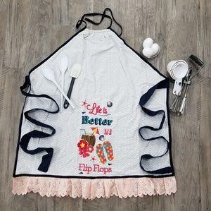 **PRICE DROP!!**  Handmade/sewn Beachy Apron